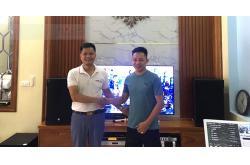 Dàn karaoke gia đình anh Đại ở Thạch Thất, HN (Emax 3112, R120SW, Famous 7208, X6 Luxury, UGX12 Gold, Plus 4TB, 22 inch)