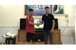 Dàn karaoke gia đình anh Hùng ở Nhơn Trạch, Đồng Nai (BIK BSP 410, BKsound DKA 8500)