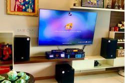 Lắp bộ dàn karaoke RCF cho gia đình anh Sơn ở Bình Thạnh (Emax 3110, Klipsch R100SW, Famous 3206, BCE UGX12 Gold)