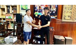 Lắp dàn karaoke cao cấp cho gia đình anh Lành ở Hóc Môn (Emax 3110, Alto TS312, AAP K9800, Famous 7208, Hanet 2TB, BCE VIP3000)