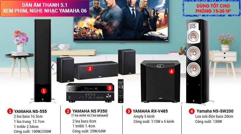 Dàn âm thanh 5.1 xem phim nghe nhạc Yamaha 06