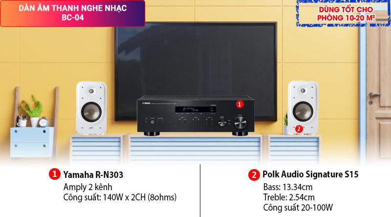 Dàn âm thanh nghe nhạc BC-04