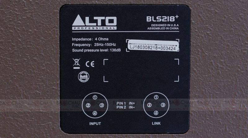 Loa Sub hơi Alto BLS 218+
