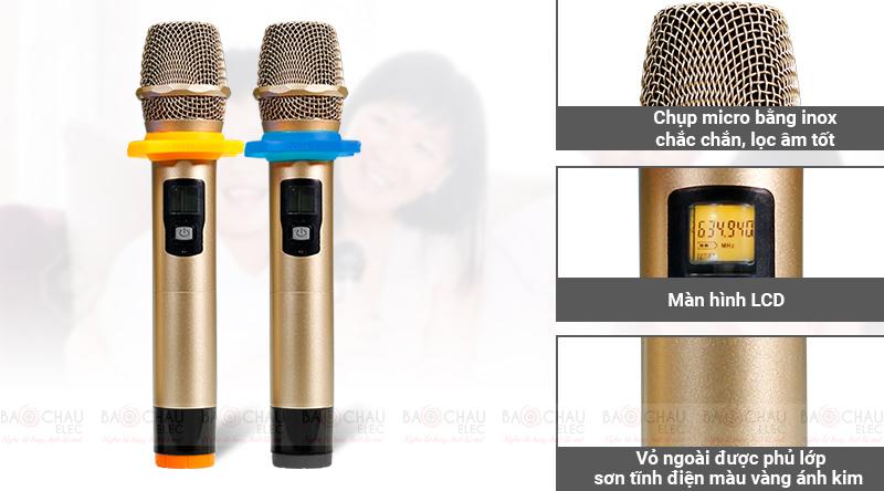 Micro không dây bik BJ U550 giá rẻ hát hay