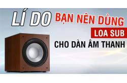 Lí do bạn nên dùng Loa Sub cho dàn âm thanh nhà bạn