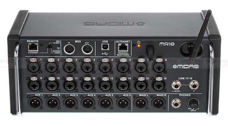 Bàn mixer Midas MR 18 Flyht Case Bundle