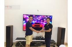 Lắp đặt dàn karaoke cho gia đình anh Chiến tại Hải Phòng (Paramax Platinum D88, BKSound DP6000)
