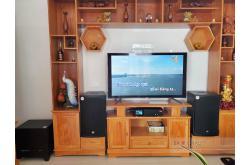 Lắp đặt dàn karaoke cho gia đình anh Khanh tại Cần Thơ (RCF EMAX 3112, Lenovo K750, BIK BJ-W30)