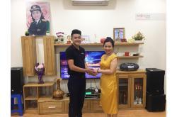 Dàn karaoke gia đình cô Lại tại Thanh Trì - Hà Nội (RCF EMAX3110, BKSound DP3500, NS-SW300, UGX12)