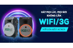 Hát mọi lúc, mọi nơi không cần Wifi/3G với Loa kéo Acnos