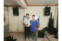 Lắp đặt dàn karaoke gia đình Anh Châu tại Đà Nẵng (JBL CV1270, SAE TX800Q, BIK BPR-8500, A120P, BCE UGX12)