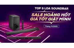 Top 9 Loa Soundbar sale hoảng hốt, giá tốt giật mình tháng 11/2020