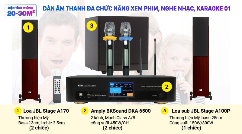 Dàn âm thanh đa chức năng xem phim, nghe nhạc, karaoke 01