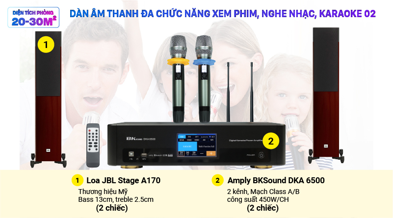 Dàn âm thanh đa chức năng xem phim, nghe nhạc, karaoke 02 (