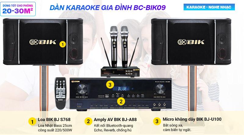 Dàn karaoke BIK 09 giá rẻ nhất
