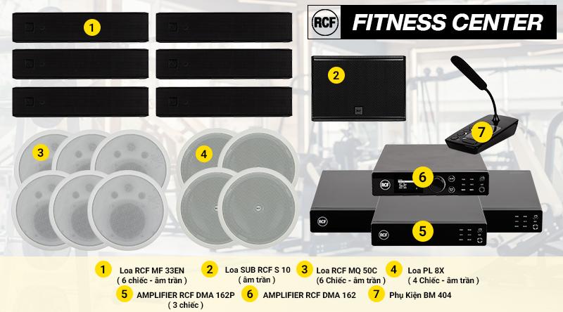 Hệ thống âm thanh nhạc nền RCF cao cấp cho các TT thể dục