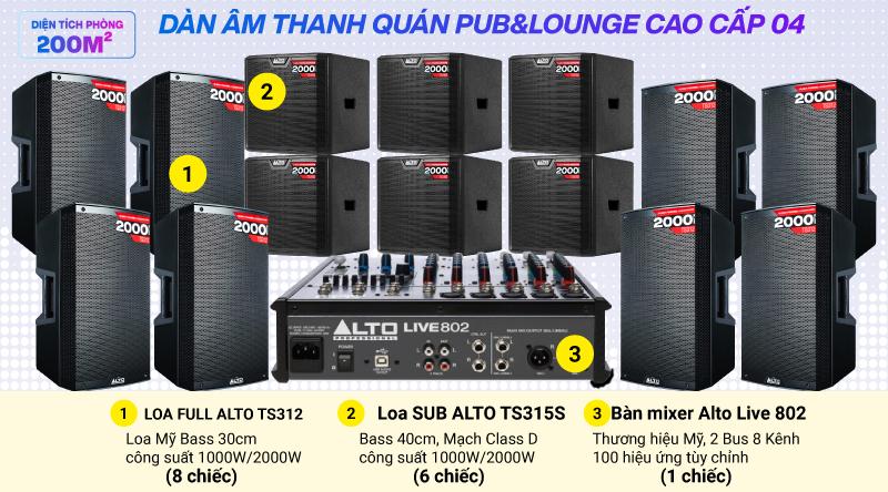 Hệ thống âm thanh quán PUB &  Lounge cao cấp 04