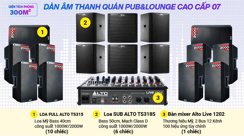 Hệ thống âm thanh quán PUB &  Lounge cao cấp 07