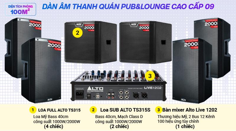 Hệ thống âm thanh quán PUB &  Lounge cao cấp 09