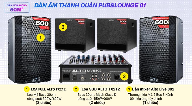 Hệ thống âm thanh quán PUB & Lounger giá rẻ 01