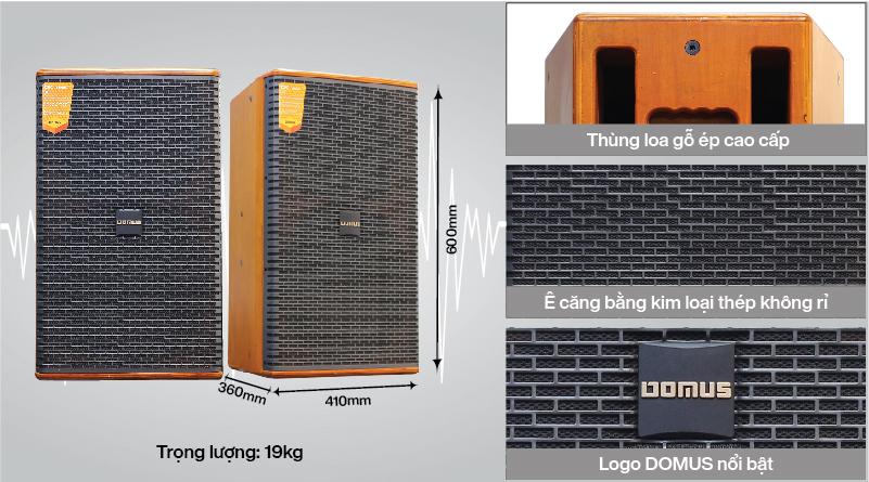 Mặt trước loa karaoke Domus DK612