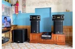 Dàn karaoke gia đình anh Hiện tại Thái Bình (JBL PRX 415M, VM840A, K9900II, JBL VM200, RXW18C)