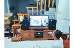 Dàn karaoke gia đình anh Thắng tại Bình Dương (BIK BSP410, BKSound DKA 8500, Bksound SW512-B)