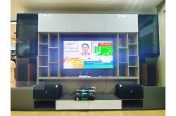 Lắp đặt dàn karaoke gia đình anh Kiên tại Hậu Giang (Domus DP6120, SAE TX650Q, KX180, UGX12)