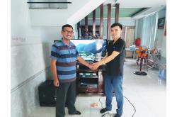 Lắp đặt dàn karaoke gia đình anh Quang tại TP HCM (Domus DP6100, BIK VM630A, DSP-9000, BIK BJ-W66...)