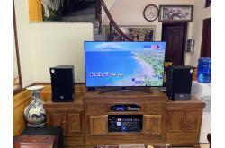 Lắp đặt dàn karaoke gia đình anh Thắng tại Bắc Giang (RCF CMAX 4110, Crown Xli2500, AAP K9800, SPL120...)