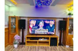 Lắp đặt dàn karaoke gia đình chú Đồng tại TP HCM (RCF CMAX 4112, BIK VM820A, AAP K9800, A120P...)