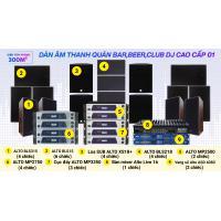 Hệ thống âm thanh quán bar, beer, Club DJ cao cấp 01 (300m2)