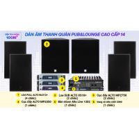 Hệ thống âm thanh quán PUB &  Lounge cao cấp 14 (100m2- pasive)