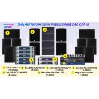 Hệ thống âm thanh quán PUB &  Lounge cao cấp 19(250m2- pasive)
