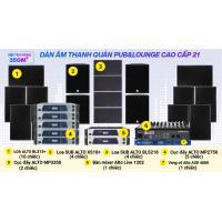 Hệ thống âm thanh quán PUB &  Lounge cao cấp 21(350m2- pasive)