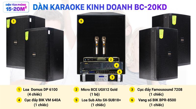 Dàn karaoke kinh doanh BC-20KD