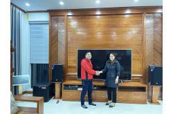 Lắp đặt dàn karaoke gia đình anh Ước tại Hải Phòng (RCF CMAX 4112, Xli2500, KX180, TS315Sub,...)