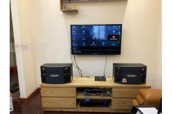 Lắp đặt dàn karaoke gia đình bác Tiến tại Hà Nội (BMB CSD 880SE, BIK VM620A, BKSound DSP-9000,...)