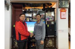 Lắp đặt dàn karaoke gia đình chị Dung tại Thanh Hóa (Domus DP6120, VM620A, DSP9000, BCE U900)
