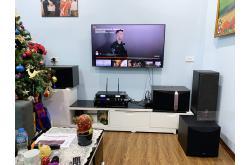 Lắp đặt dàn karaoke gia đình chị Hà tại Hà Nội (JBL KI510, BIK VM420A, JBL KX180, Yamaha NS-SW100)