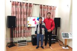 Lắp đặt dàn karaoke gia đình chị Hanh tại Hà Nội (RCF CMAX 4112, VM1020A, KX180, RCF 702-ASII,...)