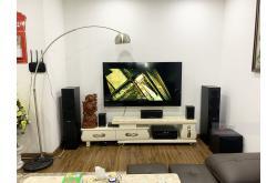 Lắp đặt dàn nghe nhạc cho chị Thủy tại Hà Nội (Yamaha NS-P150, NS-F150, NS-SW100, Yamaha RX-V385)