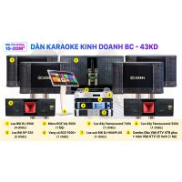Dàn karaoke kinh doanh BC - 43KD