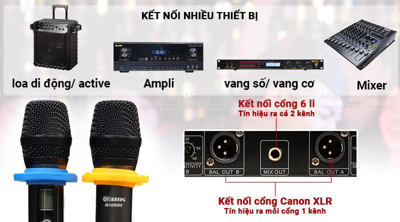 Micro không dây BIK BJ-U500