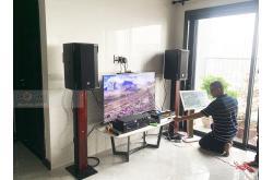 Lắp đặt dàn karaoke gia đình anh Cơ tại TP HCM (RCF CMAX 4110, RCF IPS1700, JBL KX180, BCE UGX12,...)