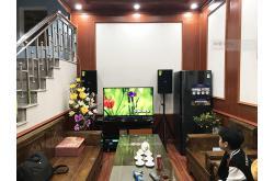 Lắp đặt dàn karaoke gia đình chị Hiên tại Bắc Giang (Domus DP6100, BKSound DP3600, 604 8No, UGX12)