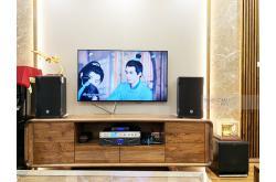 Lắp đặt dàn karaoke gia đình anh Hùng tại Hà Nội (RCF CMAX 4110, Xli2500, AAP K9800, SPL100, JBL VM300)