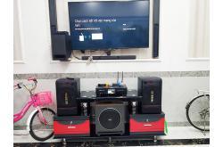 Lắp đặt dàn karaoke gia đình anh Kiên tại Cần Thơ (BIK BJ-S886II, BKSound DKA-8500, Paramax Sub MK-30)
