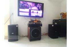 Lắp đặt dàn karaoke gia đình anh Xuân tại TP HCM (BIK BSP 410, VM620A, BKSound KX6, MK Sub30, UGX12)