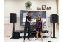 Lắp đặt dàn karaoke gia đình chị Lệ tại Đồng Nai (RCF EMAX 3112, VM620A, KX180, SPL120, UGX12 Gold)